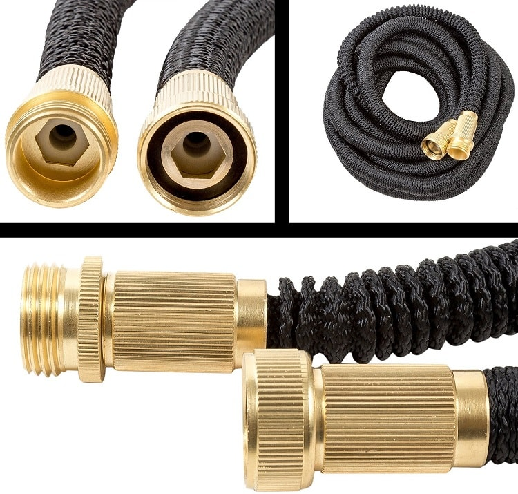 LawnPRO 50' Expanding Garden Hose - described